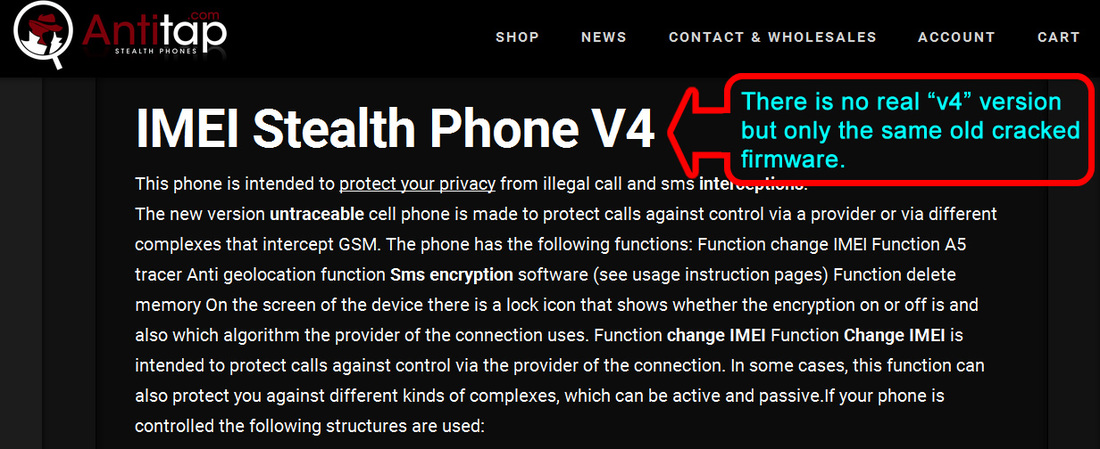 fake stealth phones on antitap.com